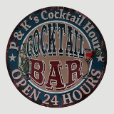 Peter and Kathy's Cocktail Hour Bar Sign