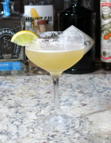 Margarita cocktail in a coupe glass